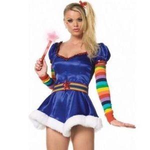 🆕 Adult Rainbow Bright Costume
